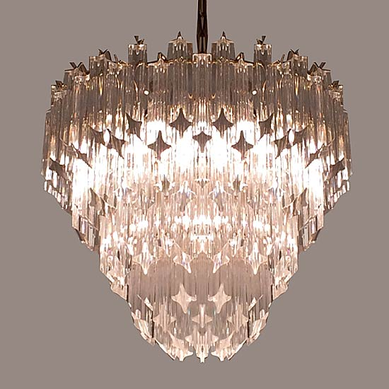 Eclectisaurus mid century modern vintage and antique lighting 1970s murano venini crystal chandelier light fixture aloadofball Images